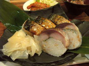 とろ鯖寿司定食