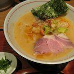 麺と心7の月替わり限定 2017年6月 海老(エビ)白湯ラーメン – 阿倍野/ラーメン