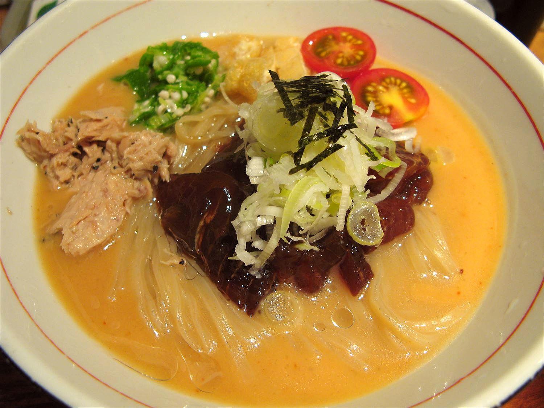 麺と心7の月替わり限定 2017年7月 冷やしまぐろそば – 阿倍野/ラーメン